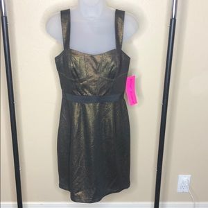 Betsy Johnson New gold designer dress